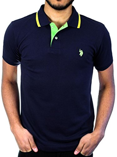 U.S. Polo Assn. Solid Slim Fit Pique Polo L Navy