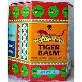 Tiger Balm Red Herbal Rub Muscles Pain Relief Headache 30 G.(big Jar) Amazing of (Muscle Balm)
