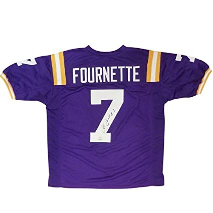 Amazon.com  Leonard Fournette Autographed LSU Louisiana State Tigers  (Purple  7) Jersey - Panini  Sports Collectibles 7bafc7917