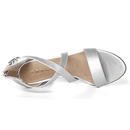 Dress Crisscross Straps Allegra Tone K Sandals Silver Women It6xfx
