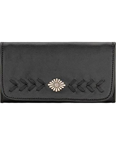 american-west-womens-mohave-canyon-ladies-tri-fold-wallet-black-one-size
