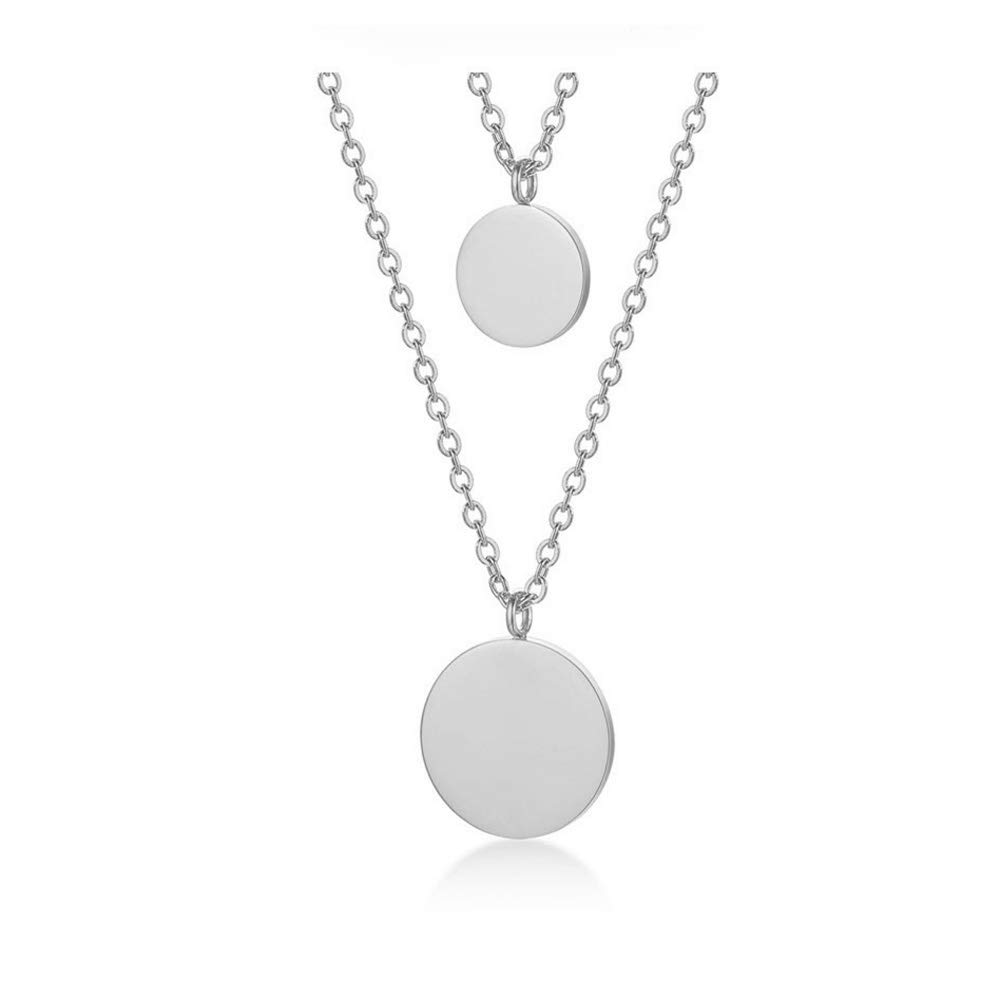 b420bc5bc6453 WLL Double Gold Layered Chain Necklace Simple Disc Round Sequin Coin  Necklace Bridal Jewelry