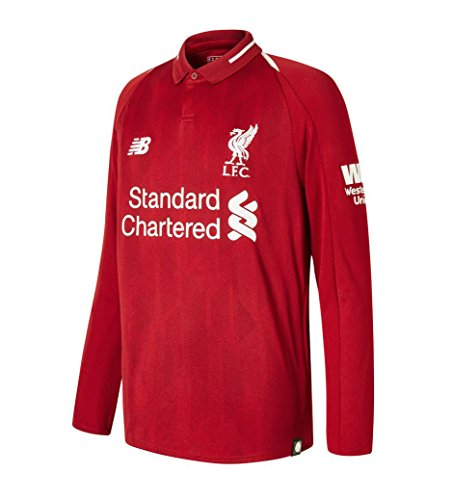 New Balance Liverpool Home Soccer Long Sleeve Youth Jersey 2018-19 (YM) ()