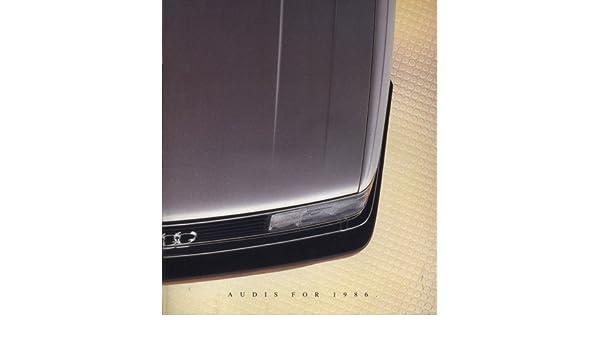 Amazon.com: 1986 Audi Line Sales Brochure Book 5000 4000 Coupe GT: Toys & Games