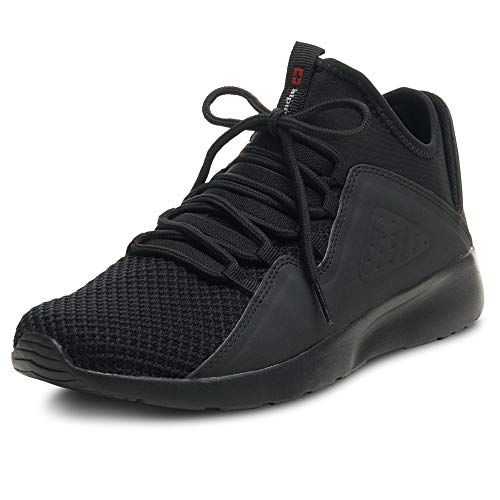Image of alpine swiss Enzo Men's Fashion Sneakers Lightweight Knit Lace Up Tennis Shoes Black 12 M US