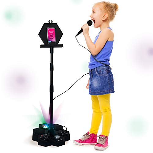 Singsation All-In-One Karaoke System & Party Machine - Performer Speaker w/Bluetooth Microphone Sing Stand - No CDs! - Kids or Adults Can Use YouTube for Favorite Karaoke Videos or Songs by 808 (Image #5)