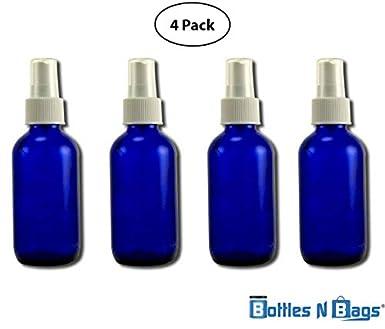 Amazon.com: Azul Cobalto Botella de vidrio 4 oz con Fine ...