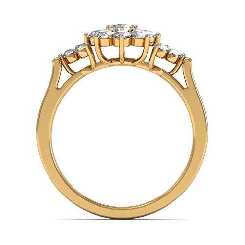 14K Or jaune, 0,45carat Diamant Blanc (IJ | SI) en diamant