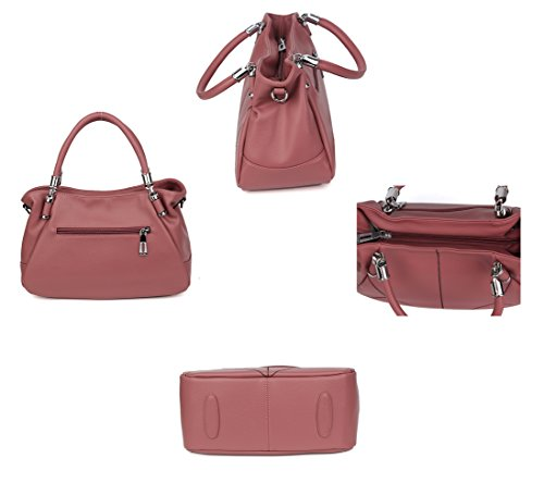 Travel Large Bag Bag Messenger Soft aged Leather Handbag FLHT Bag Ms capacity Middle Ladies Mother Pink Fashion Handbag Bag Shoulder p7qnwaTS