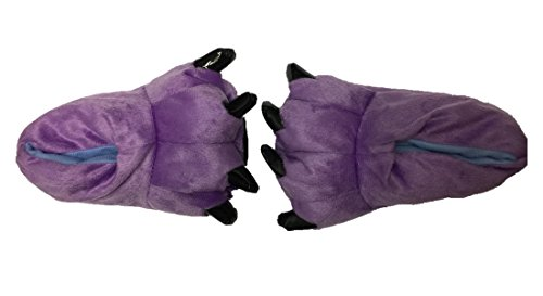 MiziHome Unisex Soft Paw Claw Home Slippers Animal Costume Shoes Purple S by MiziHome (Image #2)