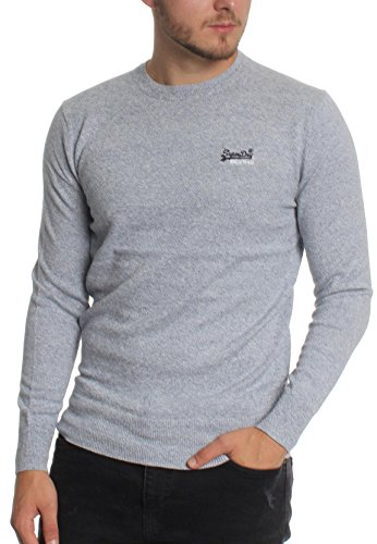 Gris Superdry Pull Superdry Clair Homme Pull IIF6q0wT