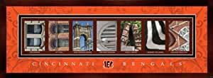 Prints Charming Letter Art Framed Print, Cincinnati Bengals-Bengals, Bold Color Border