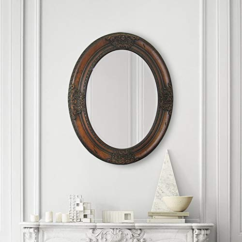 Ren-Wil MT899 Wall Mount Mirror by Jonathan Wilner and Paul De Bellefeuille, 30 by 24-Inch Carved Wood Frame Mirror