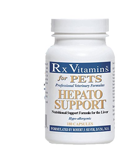 Rx Vitamins for Pets Hepato Support for Dogs & Cats - Veterinary Nutritional Formula for Liver Support - Hypoallergenic - 180 Capsules by Rx Vitamins