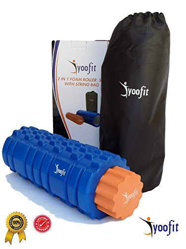 yoofit-2-in-1-foam-roller-set-plus-free-travel-string-bag-case-soft-and-firm-grid-textured-rollers-f