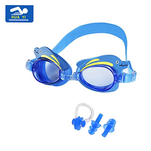 Kids Swimming Goggles, HUAYI Anti-fog UV Protec...