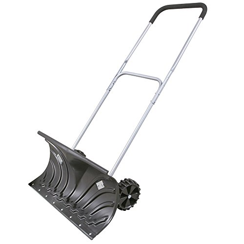 (Heavy Duty Adjustable Rolling Snow Pusher With 6