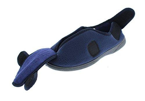GOLDTOE Herren Jude breiten verstellbaren Strap orthopädische Wrap Slipper Bootie Memory Foam Haus Schuhe Marine