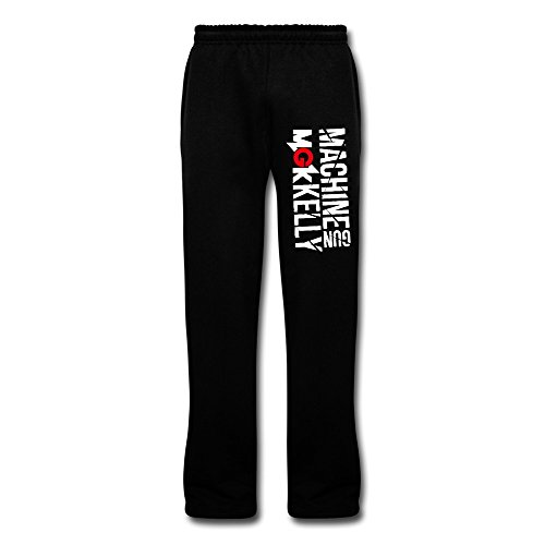 Men's Rapper Machine Gun Kelly MGK Logo Sweatpants M Black