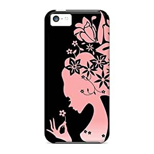 For ipod touch4- Fluffy Flower Jpg Personal cell phone High Quality case cover yueya's case