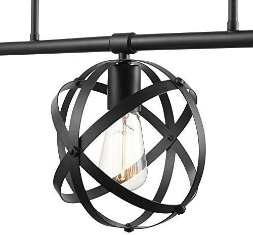 Globe Electric Tatum 3-Light Dark Bronze Linear Chandelier 60878