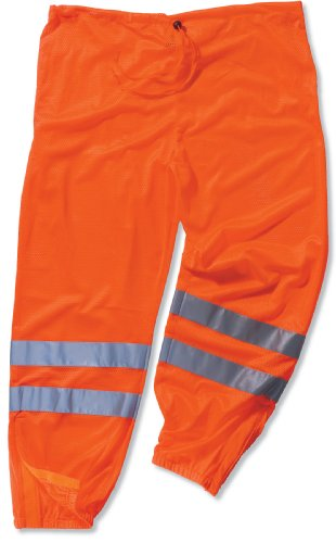 Ergodyne GloWear 8910 ANSI High Visibilty Orange Reflective Safety Pants, Small/Medium]()