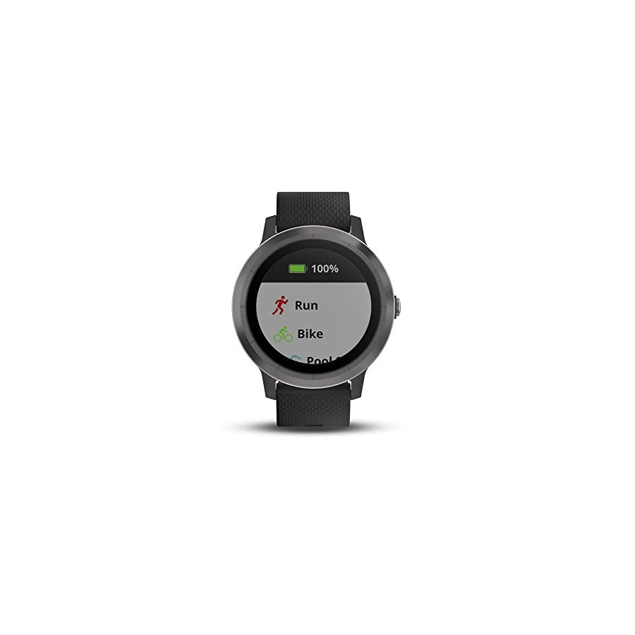 Garmin vívoactive 3, GPS Smartwatch Contactless Payments Built in Sports Apps, Black/Gunmetal