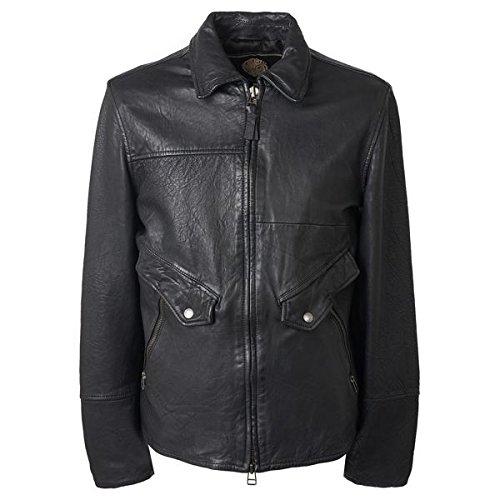 [プレティグリーン] メンズ ジャケット&ブルゾン Leather Zip Through Jacket [並行輸入品] B0781BRM3T Small