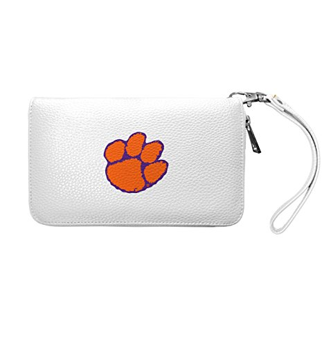 NCAA Clemson Tigers Zip Organizer Pebble Wallet