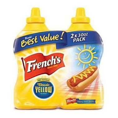 French's Classic Yellow Mustard (30 oz. bottle, 2 ct.) (pack of 6)