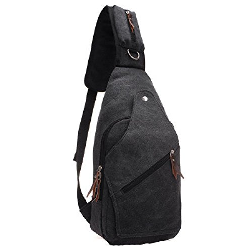 Black Bag purpose Multi Business Travel Laidaye Shoulder Men's Backpack Leisure Messenger qw0p04vxt