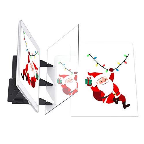 Aibecy Tablero de trazado de dibujo optico Herramienta de pintura de dibujo portatil Almohadilla de copia de animacion Sin superposicion Sombra Espejo Imagen Reflector Proyector para ninos