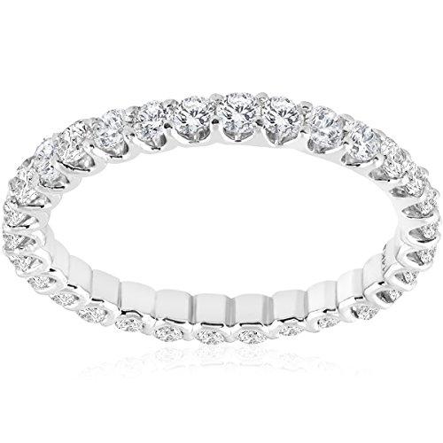 1 1/2 cttw Diamond Eternity Ring U Prong 14k White Gold Wedding Band by Pompeii3 Inc.