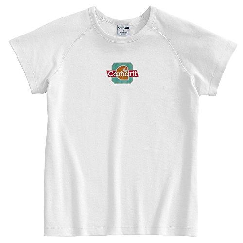 (Carhartt Women's WK007 Women's Cap Sleeve Logo T-Shirt - X-Small Regular - White)