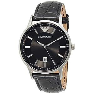 Emporio Armani Men's Analog Quartz Watch with Leather Strap AR11186