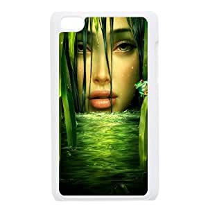 iPod Touch 4 Case White girl drawing F9W5FL