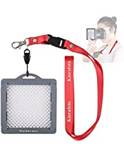 """Kiorafoto 3""""x3"""" Easy Carry Professional Camera White Balance Color Correction Filter Color Temperature Calibration Tool with Neck Strap String for Lens up to 82mm, as Grey Card / White Balance Card"""