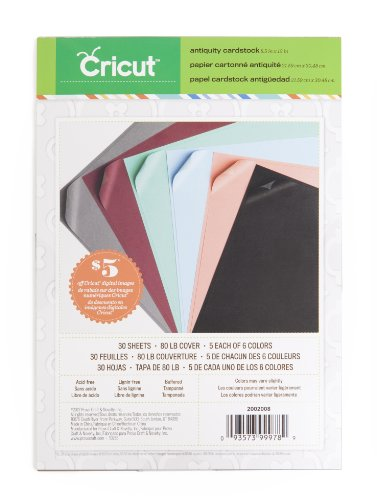 (Cricut Textured Cardstock, 8.5-Inch by 12-Inch,)