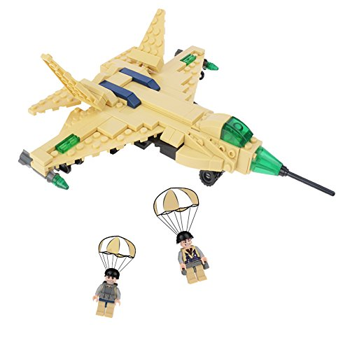 Stem blocks Military Plane Building Kits Creative Educational DIY Fun Christmas and New Year Birthday Gift for Kids 6-12 Year Old