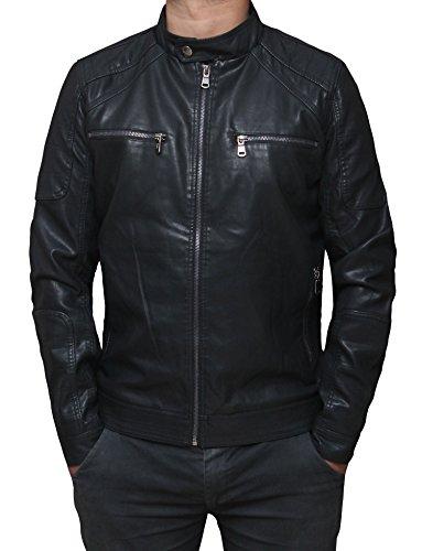Biker Style Coat - 5