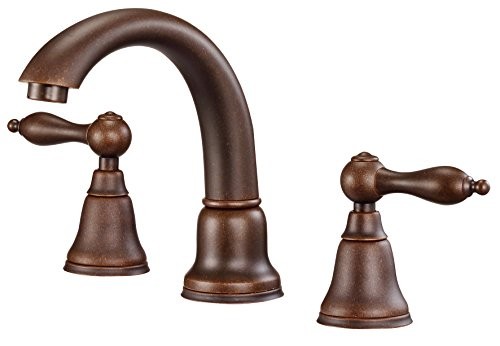 Danze D304140BR Fairmont Two Handle Widespread Lavatory Faucet, Tumbled -