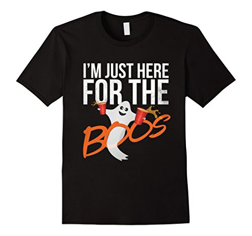 Top College Student Halloween Costumes (Mens I'm Just Here For Boos Funny Beer Halloween Shirt for Adults 2XL Black)