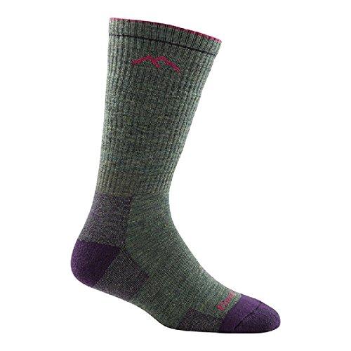 Darn Tough Vermont Women's Merino Wool Boot Sock Full Cushion 1908,Moss Heather,US M R
