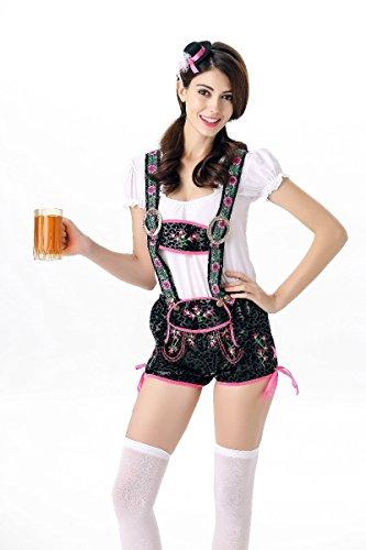 Simmia Halloween Costumes Halloween Women's Oktoberfest Clothing Bavarian Traditional Ethnic Bib, 5845, ()