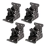 Pack of 4 Folding Brackets Lock Extension Support for Table Bed Leg Bronze Steel Foldable Hinge Hardware with Screws, Bronze