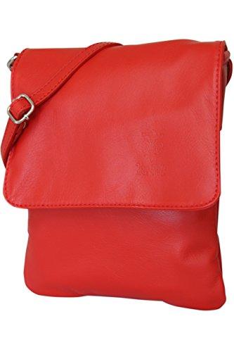 piel hombro napa Claro pequeño piel Moda AMBRA de – italiano Bolso NL602 Rojo de nbsp;para mujer de bolso de nbsp;bandolera nOnxHAT