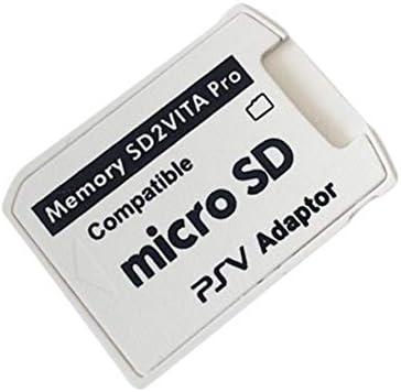 Adaptador Profesional pequeño tamaño versión 5.0 SD2VITA para PS Vita Tarjeta de Memoria TF para PSVita Juego Card1000 / 2000 PSV Adaptador - Blanco