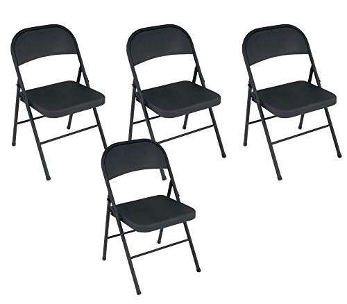 Cosco All Steel Folding Chair Black (4-pack) -