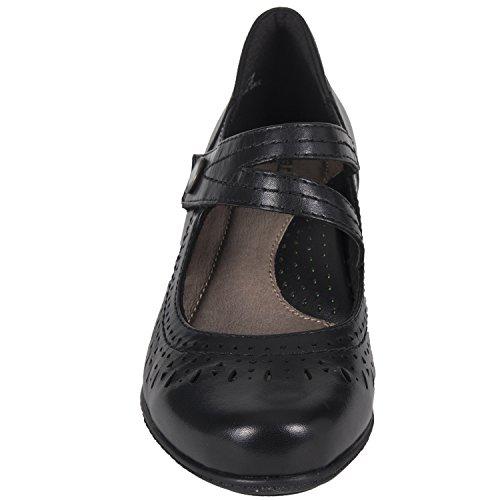 Leather Womens Clog Earth Soft Black Dione gBqSP0O
