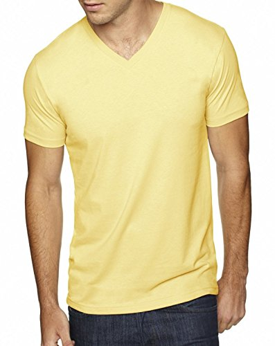Next Level 6440 Premium Fitted Sueded V-Neck Tee Banana Cream X-Small